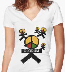 Olodum Man Women's Fitted V-Neck T-Shirt