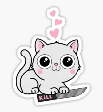 Kitty Hearts Kill - Cats Love Plotting Sticker