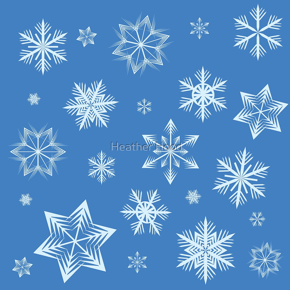 Snowflake background by Heather Hood