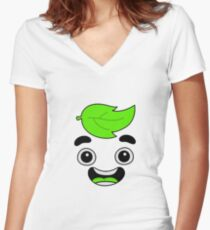guava juice Women's Fitted V-Neck T-Shirt