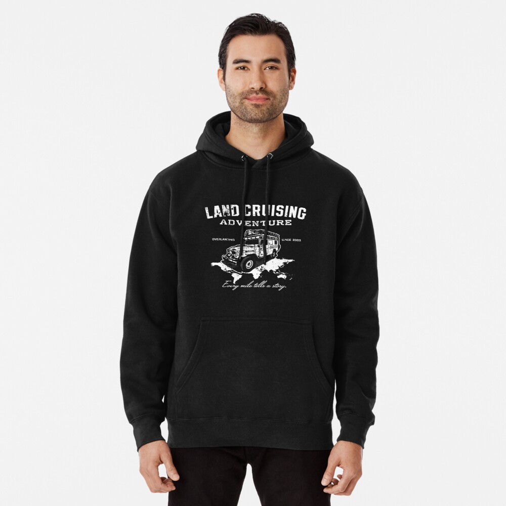 Every Mile Tells a Story - pure white Pullover Hoodie