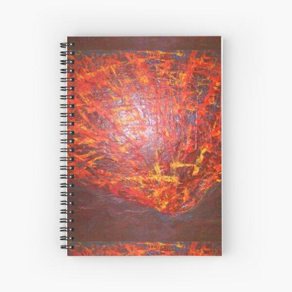 Volcano Eruption Spiral Notebook