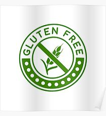 gluten free food posters redbubble