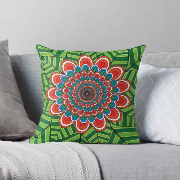 Pattern H Throw Pillow