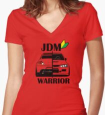 JDM Warrior #1 Women's Fitted V-Neck T-Shirt
