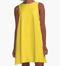 Vibrant Yellow A-Line Dress
