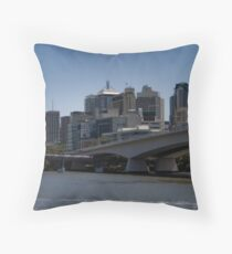 Brisbane over the River Throw Pillow