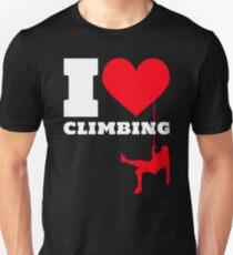 I love Climbing / Klettern Unisex T-Shirt