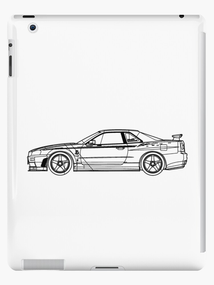 R34 gtr blueprint ipad cases skins by kaanursu redbubble r34 gtr blueprint by kaanursu malvernweather Gallery