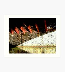 "under the bridge # 2 - "" six girders "" Art Print"