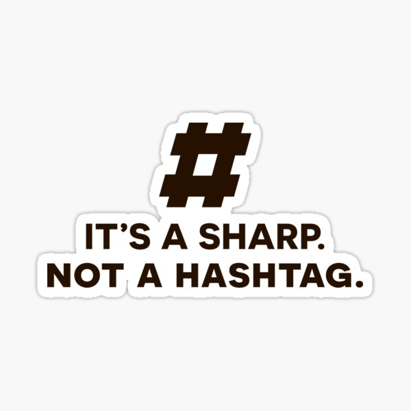 Hashtag Mug - Music Teacher Gifts, Musician Gifts for Christmas, Birthday Sticker