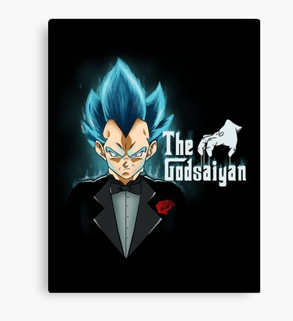 God blue mafia Vegeta Canvas Print