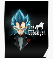God blue mafia Vegeta Poster