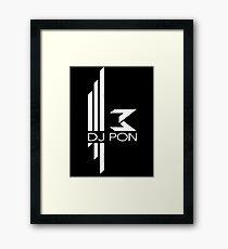 DJ Pon-3: White Logo Framed Print