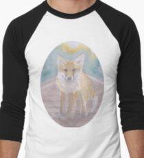 Fox on rail track Men's Baseball ¾ T-Shirt