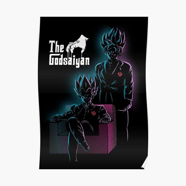 God blue mafia VEGETA AND GOKU Poster