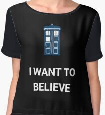 I Want To Believe - Doctor Chiffon Top