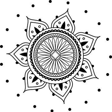 Mandala Black Design by AppRise