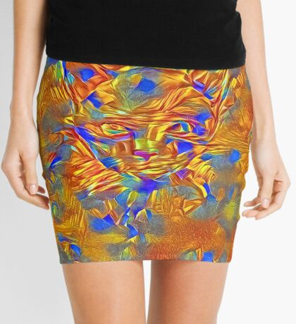 Another Ninja cat hiding #Art Mini Skirt
