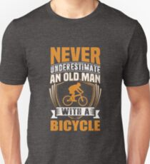 Never Underestimate An Old Man With A Bicycle Funny T-Shirt