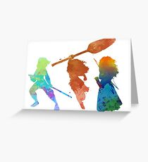 Powerful Princesses Inspired Silhouette Greeting Card