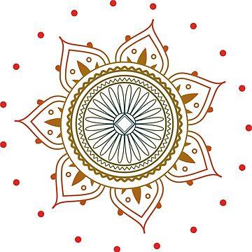 Coloured Mandala by AppRise