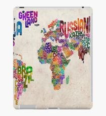 Typography Text Map of the World Map iPad Case/Skin