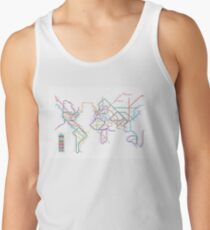World Tube Metro Map Tank Top