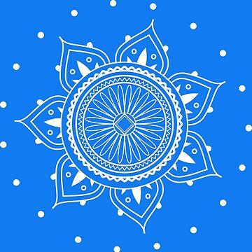 White Mandala Design by AppRise