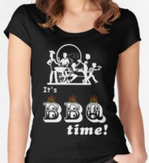 Barbecue Party Time Women's Fitted Scoop T-Shirt