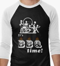 Barbecue Party Time Men's Baseball ¾ T-Shirt
