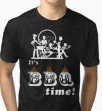 Barbecue Party Time Tri-blend T-Shirt