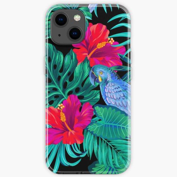 blue macaw parrots.  iPhone Soft Case