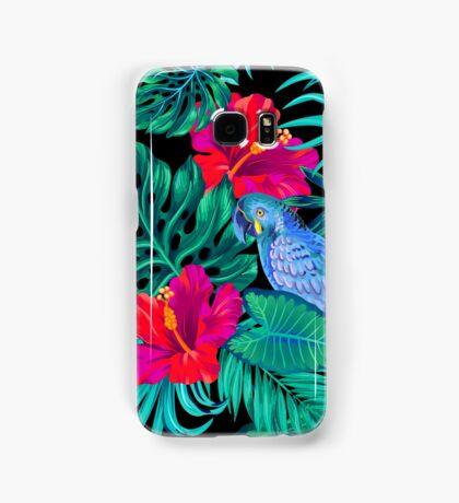 blue macaw parrots.  Samsung Galaxy Case/Skin