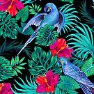 «loros guacamayos azules.» de Elena Belokrinitski