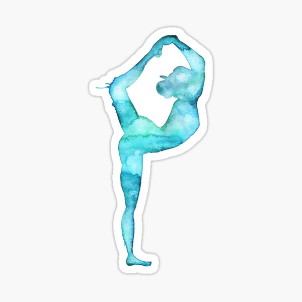 Lord of the dance yoga pose Sticker