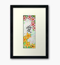 Sakura Plumeria Love Framed Print