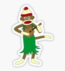 Sock Monkey Ukulele Sticker