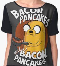 Bacon Pancakes Chiffon Top