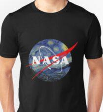 Van Gogh Starry Night Nasa T-Shirt