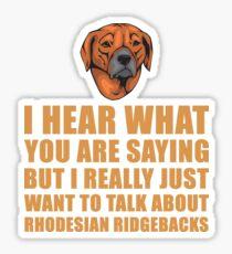 Funny Rhodesian Ridgeback Gift Idea - Dog Lover Gift For Mom Or Dad Sticker