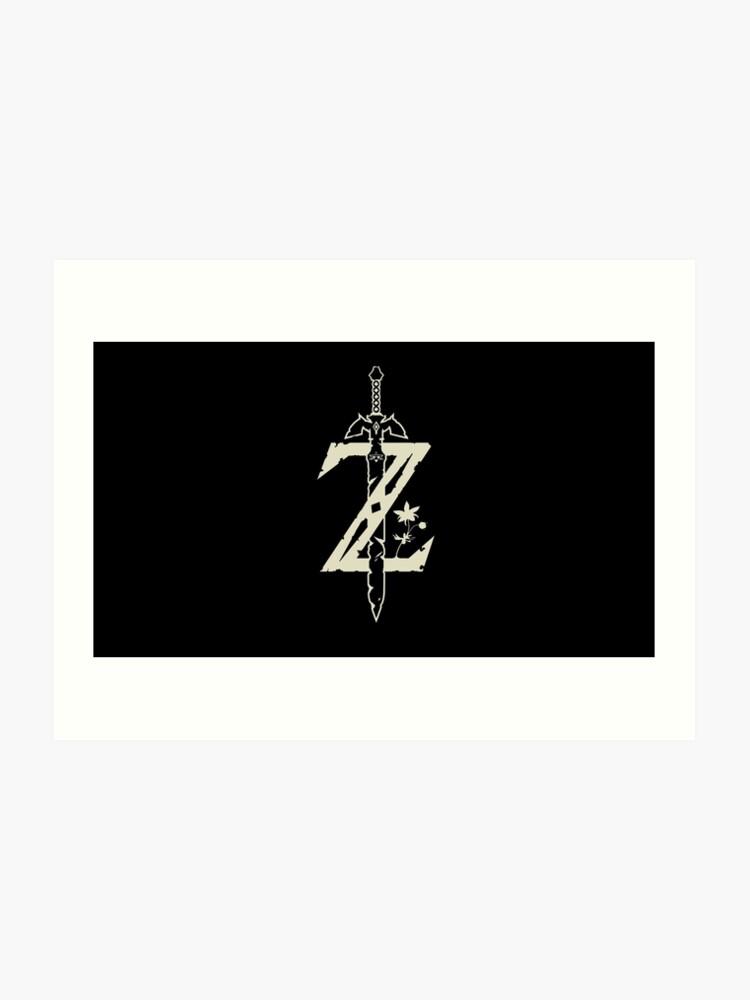 Zelda: Breath of The Wild Master Sword Logo   Art Print