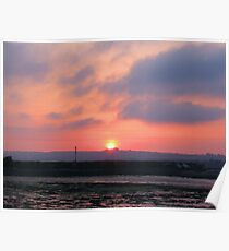 Sunset over Hayling Island Poster