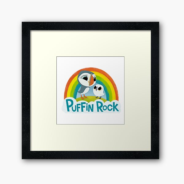 Puffin Rock Logo Framed Art Print