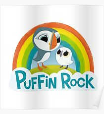 Puffin Rock Logo Poster