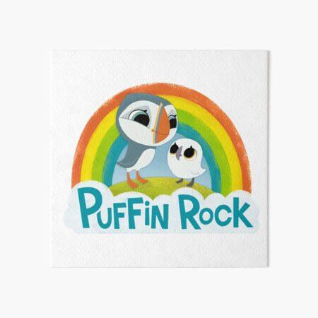 Puffin Rock Logo Art Board Print