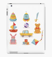 Set of Toys for Kids in Retro style iPad Case/Skin