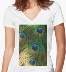 Show Me Your Colours ©  Women's Fitted V-Neck T-Shirt