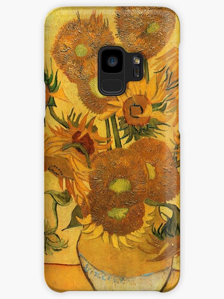 Sunflowers Vincent Van Gogh Famous Paintings Impressionist Cases