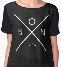BON IVER Women's Chiffon Top